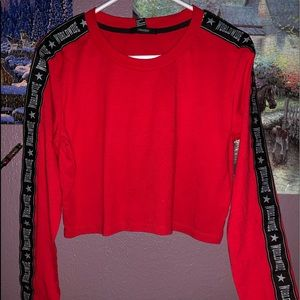 Forever 21 long sleeve Crop top small